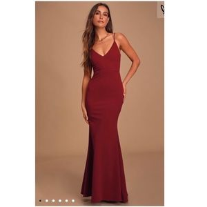 Lulus Wine Red Maxi Dress